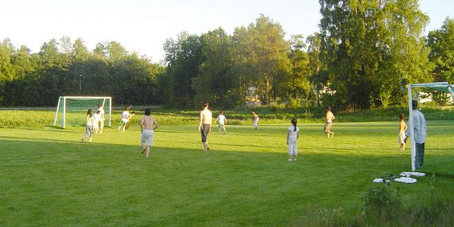 Fotballbanen ved gjestegården